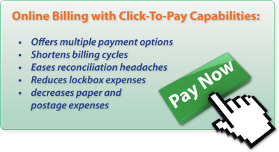 online billing with click-to-pay
